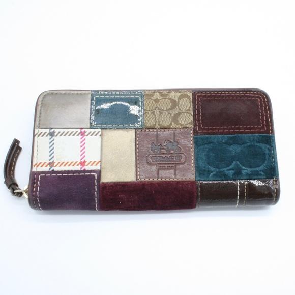 Coach Handbags - Coach Patchwork Zip Around Wallet